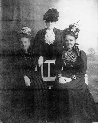 Shows, left to right, Louisa Way, Mary Ann Lewis and Elizabeth Hudson