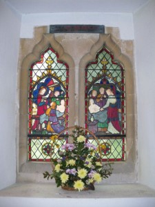 Resurrection Window with floral decoration