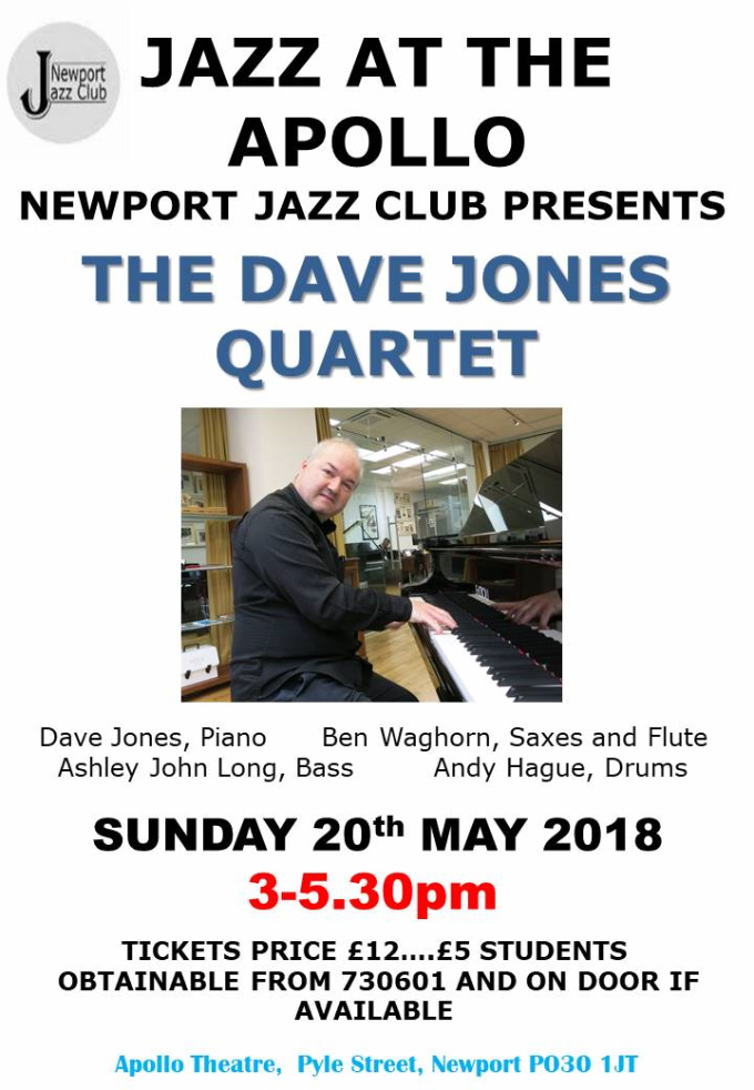 NJC Poster 20180520 Dave Jones Quartet