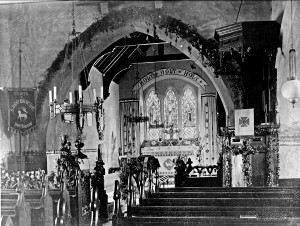 Northwood Church interior - circa 1890s-early 1900s