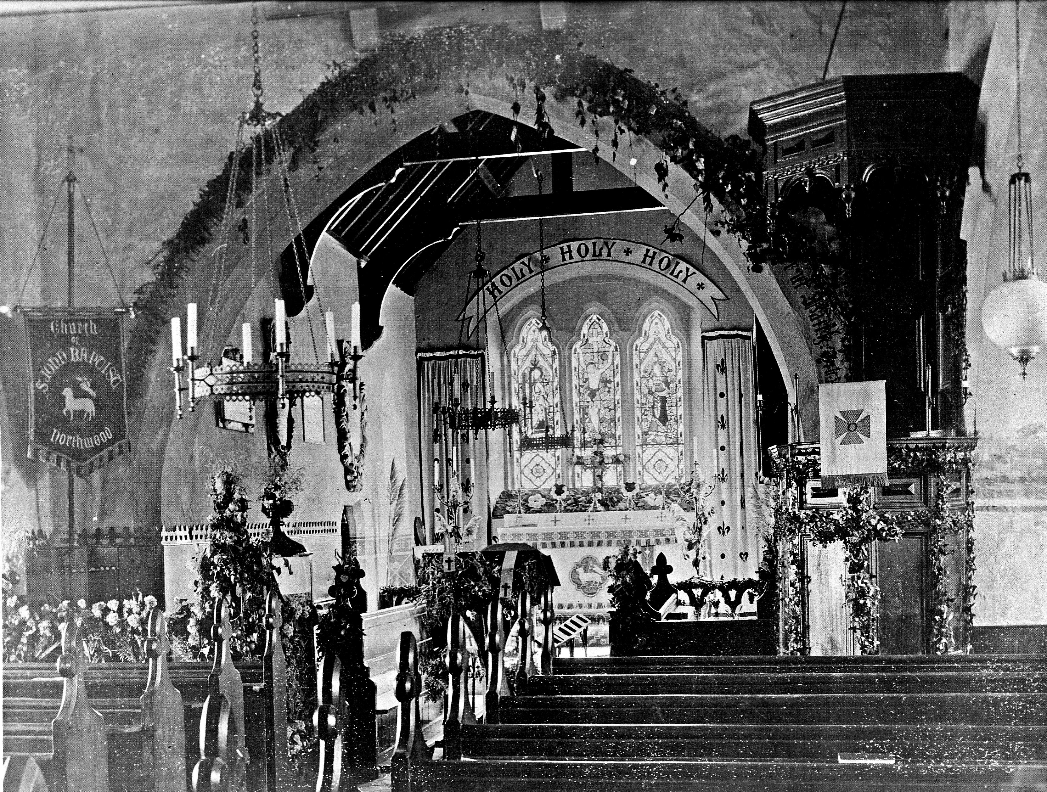 Northwood Church Interior Late 1800s Early 1900s
